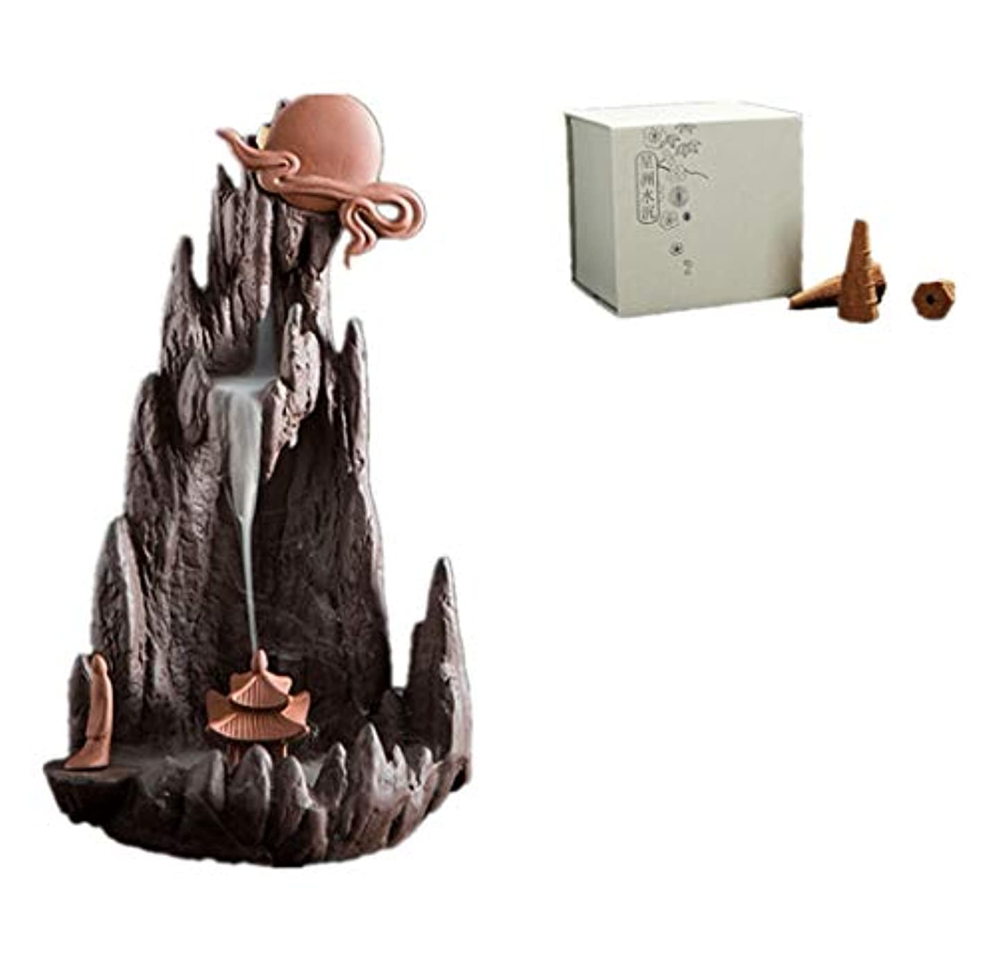 排泄する親指進むXPPXPP Reflux Incense Burner With 40 Reflux Cones, Home Decoration Incense Stick Ceramic Backflow Cone Candlestick...