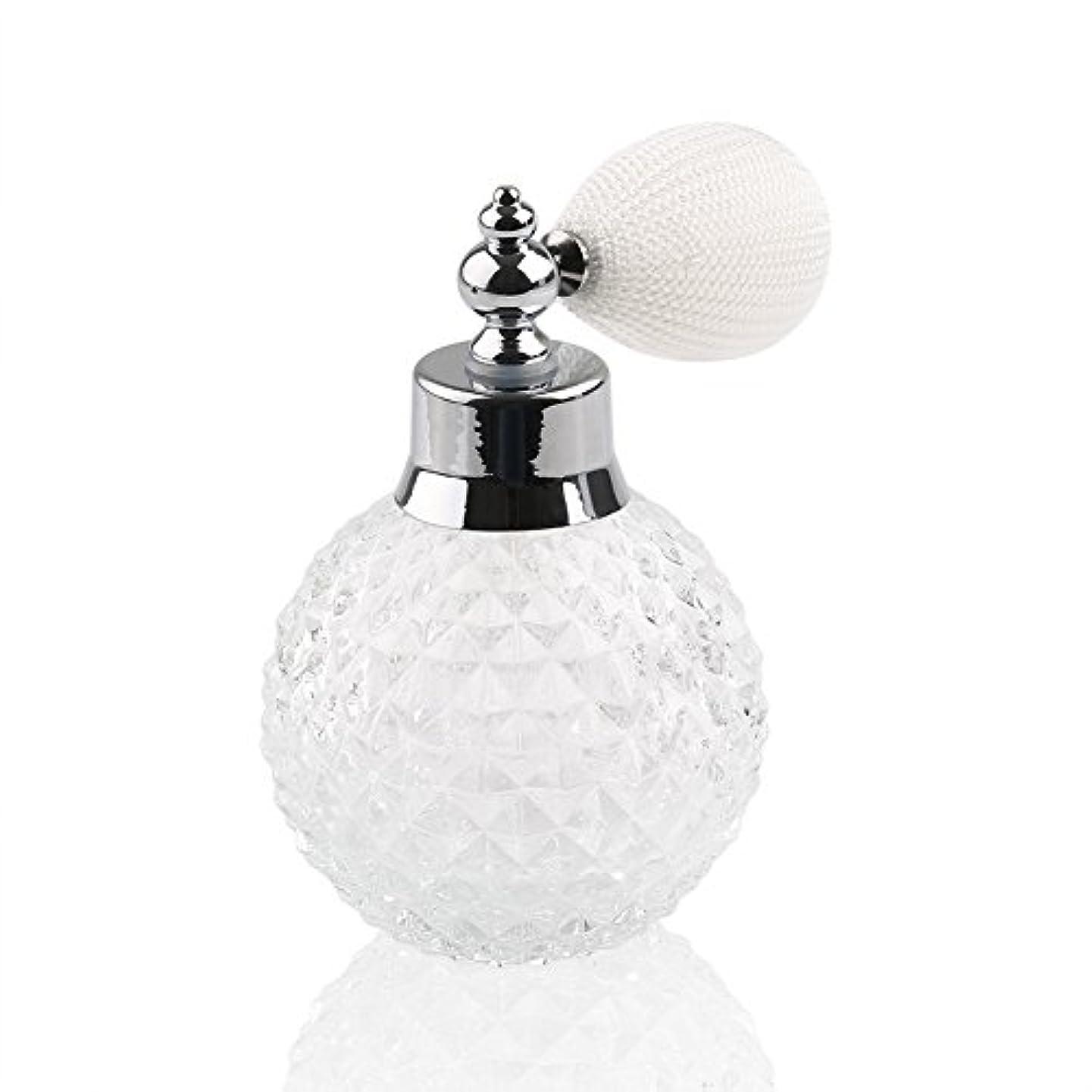 無法者リレー発揮する高品質24MMガラスボトル香水瓶 アトマイザー  クリアーパイナップル デザイン シルバースプレー 100ML ホーム飾り 装飾雑貨 ガラス製