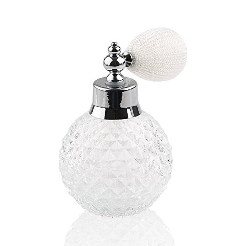 高品質24MMガラスボトル香水瓶 アトマイザー  クリアーパイナップル デザイン シルバースプレー 100ML ホーム飾り 装飾雑貨 ガラス製