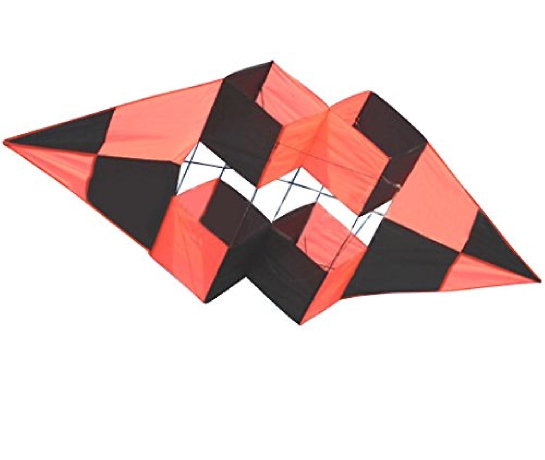 (タカイト) 凧 カイト 立体 3D 凧揚げ スポーツカイト 大きい 全長1.9m ひし形 不思議な形