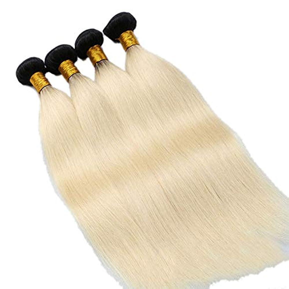 入植者丁寧変装したWASAIO ブラジルのストレートヘアハニーブロンドシングル12インチウィーブバンドル100%人間エクステンションソーイン(10インチ-24インチ) (色 : Blonde, サイズ : 16 inch)