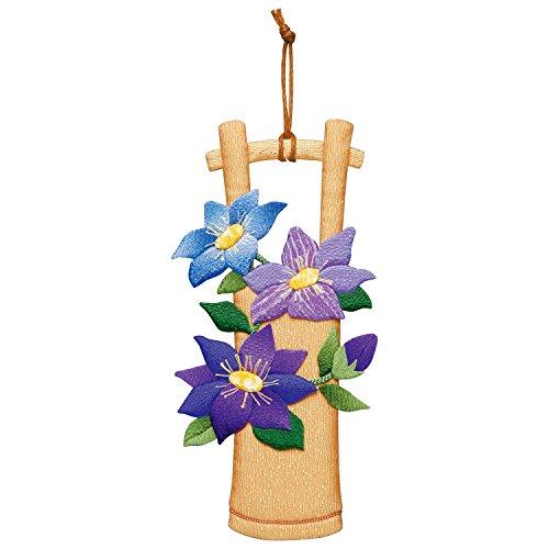 さくらほりきり 手作りキット 押絵飾り テッセンの竹飾り 縦24.8×横10.8cm