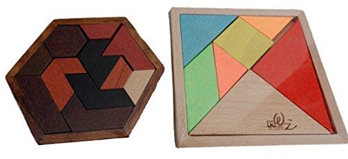 [해외]HTD 탱그램 2 개 세트 유아용 교육 나무 퍼즐 나무를 쌓은/HTD Tangram 2 sets Infant education wooden puzzle blocks