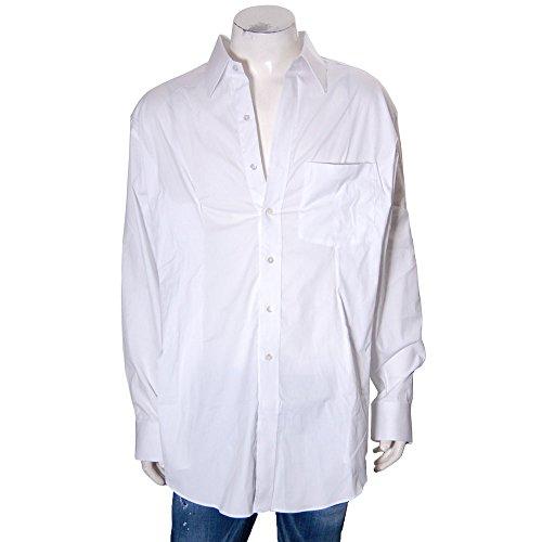 (ヴェトモン) VETEMENTS オーバーサイズシャツ ストレッチ フェイクボタン WAH18SH2-WHITE ホワイト 【並行輸入品】