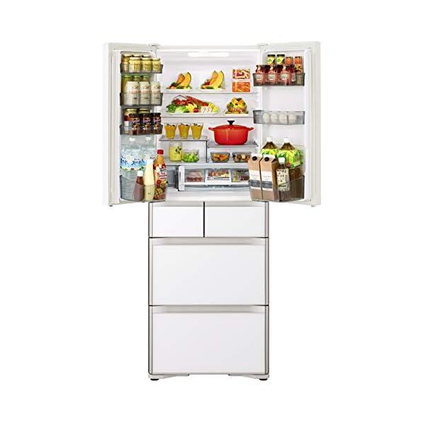 日立 冷蔵庫 430L 6ドア クリスタルホワ...の紹介画像2