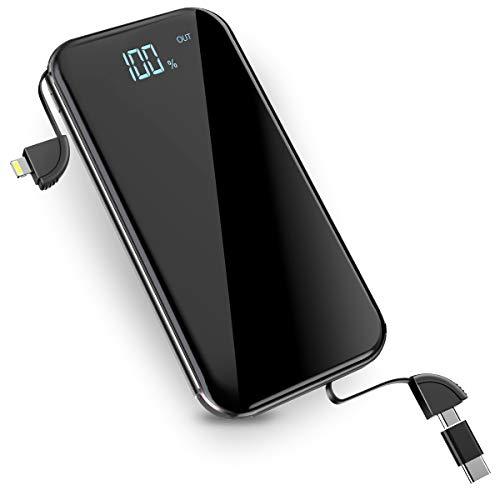 モバイルバッテリー Qi ワイヤレス充電 10000mAh 無線充電器 3 Micro-USBポート搭載 4台同時充電 無線と有線両用 TYPE-C 変換アダプターが付き iPhone X / iPhone8/8Plus / Galaxy 8/8+ 各種他対応 Lcsriya (ブラック)