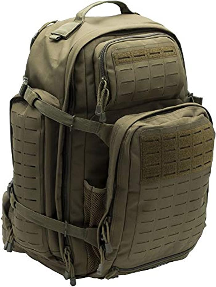 遠征試験申請者LA Police Gear Atlas 72H MOLLE Tactical Backpack for Hiking, Rucksack, Bug Out, or Hunting-Green [並行輸入品]