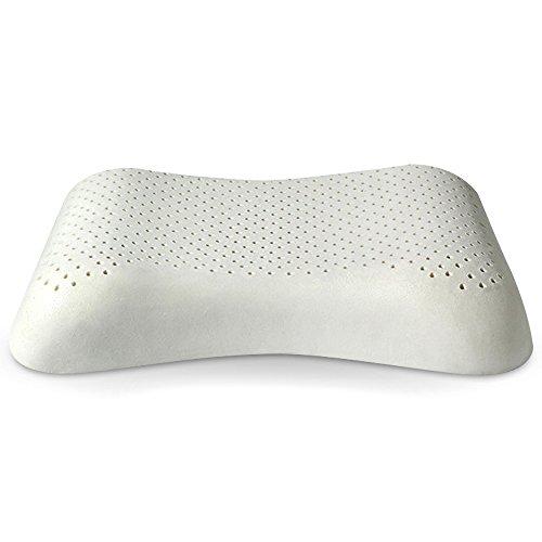 POVUMGA 天然ラテックス枕 高反発枕 人間工学設計 カバー付き