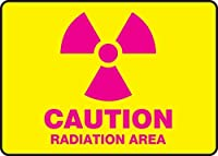 Accuform MRAD501XT Dura-Plastic Sign Legend Caution Radiation Area 7 Length x 10 width x 0.060 Thickness Magenta on Yellow 7 Height 10 Wide 7 Length Dura-Plastic 7 x 10 [並行輸入品]