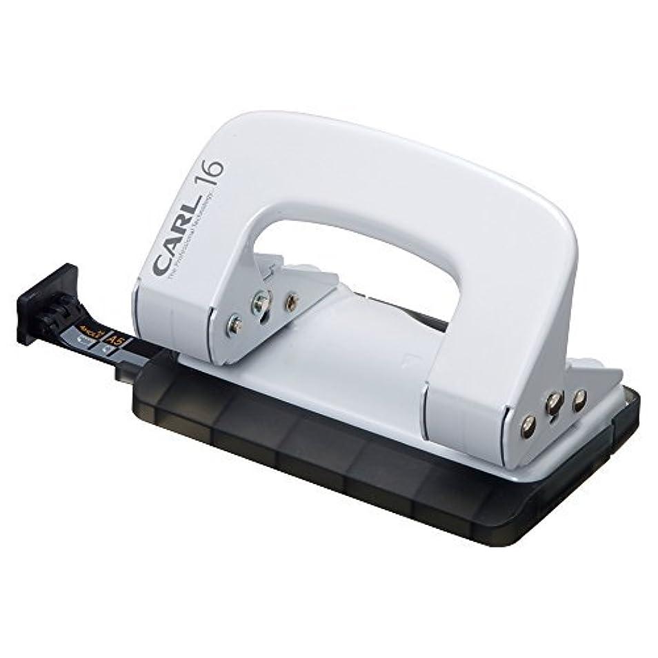 幹コマース歴史的カール事務器 パンチ アリシスLP-16 ホワイト LP-16-W 00005618 【まとめ買い5個セット】