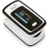Innovo Deluxe Fingertip Pulse Oximeter with Plethysmograph and Perfusion Index, Deluxe Off White