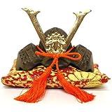 日本製 和風インテリア 兜 端午の節句 五月人形 兜飾り 出世兜 豆兜(座布団付き) 名将 源義経