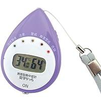デザインファクトリー 【日本気象協会監修】 携帯型熱中症計(見守り機能付) 6937 パープル