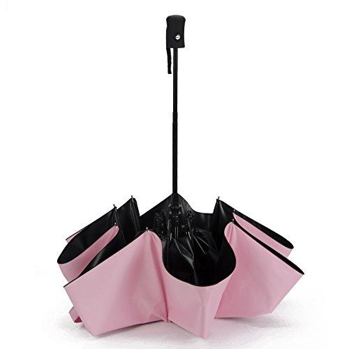 SMUMP 超軽量 折り畳み 日傘 自動開閉 UVカット 撥水 8本骨 210T高強度グラスファイバー 晴雨兼用 (ピンク)