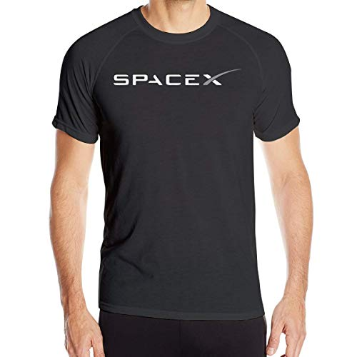 メンズSPACEX Tシャツ半袖クイックドライアスレチックティー