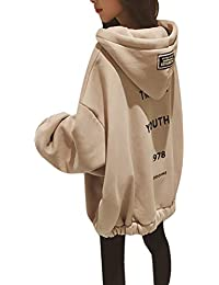Budopy パーカー レディース スウェット トレーナー ゆったり プルオーバー トップス カジュアル 大きいサイズ 裏起毛 体型カバー 長袖 おしゃれ オーバーサイズ スポーツ コットン 通学 通勤 秋 冬 ゆるい ジッパー 厚くする プラスベルベット