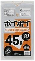 ●●●低密度 ポリ袋45L(透明)30枚×20冊 P-45304