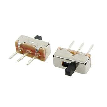 uxcell スライドスイッチ 垂直スライドスイッチ SS12D00G3 2ポジション SPDT 1P2T 3ピン PCB ミニ 50個入り