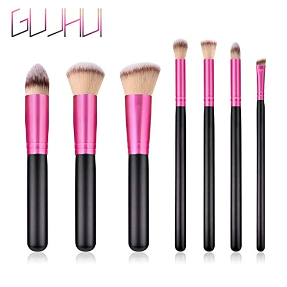 前件それに応じて必要とするAkane 7本 GUJHUI 綺麗 美感 高級 魅力的 上等 エレガント ブラック ピンク 柔らかい たっぷり 多機能 便利 おしゃれ 激安 日常 仕事 Makeup Brush メイクアップブラシ T-07-060