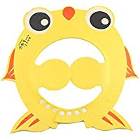 SoarUp キッズシャワーキャップ シャンプーハット シャワー 赤ちゃん かわいい 調節可能(黄)