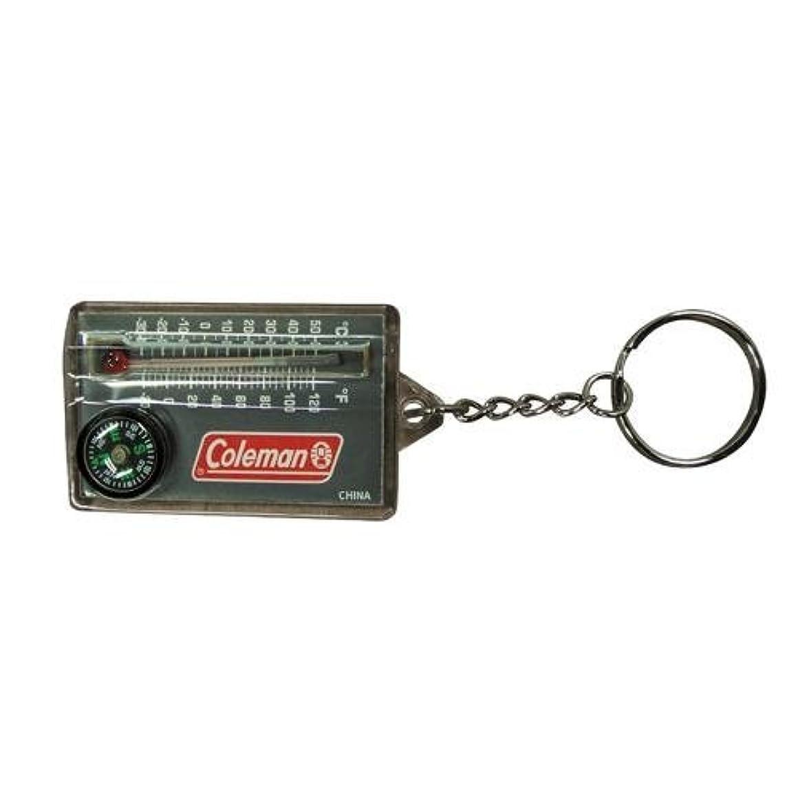 強盗時間動機付けるコールマン キーホルダー型 温度計&コンパス  日本未発売