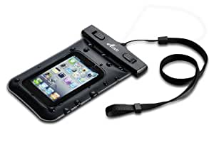 Acase 防水ケース ブラック ストラップ 付 for iPhone4S / iPhone4 / iPhone3G / iPod touch / GALAXY S Waterproof シースルー 防水 ケース 防水保護等級 : IPx8