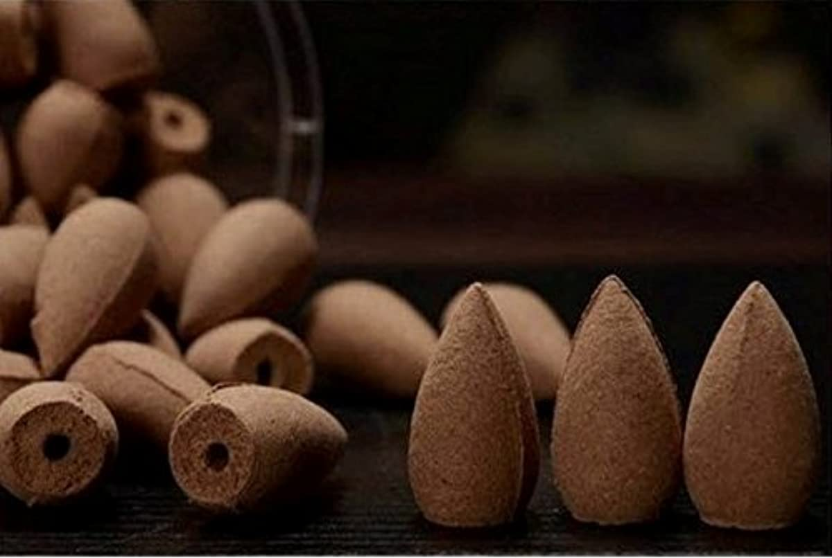 予測パット高揚したGAC Art and Crafts fragrance Incense Cones in Rose, Jasmine and Lavender Scent for Backflow (Multicolour)