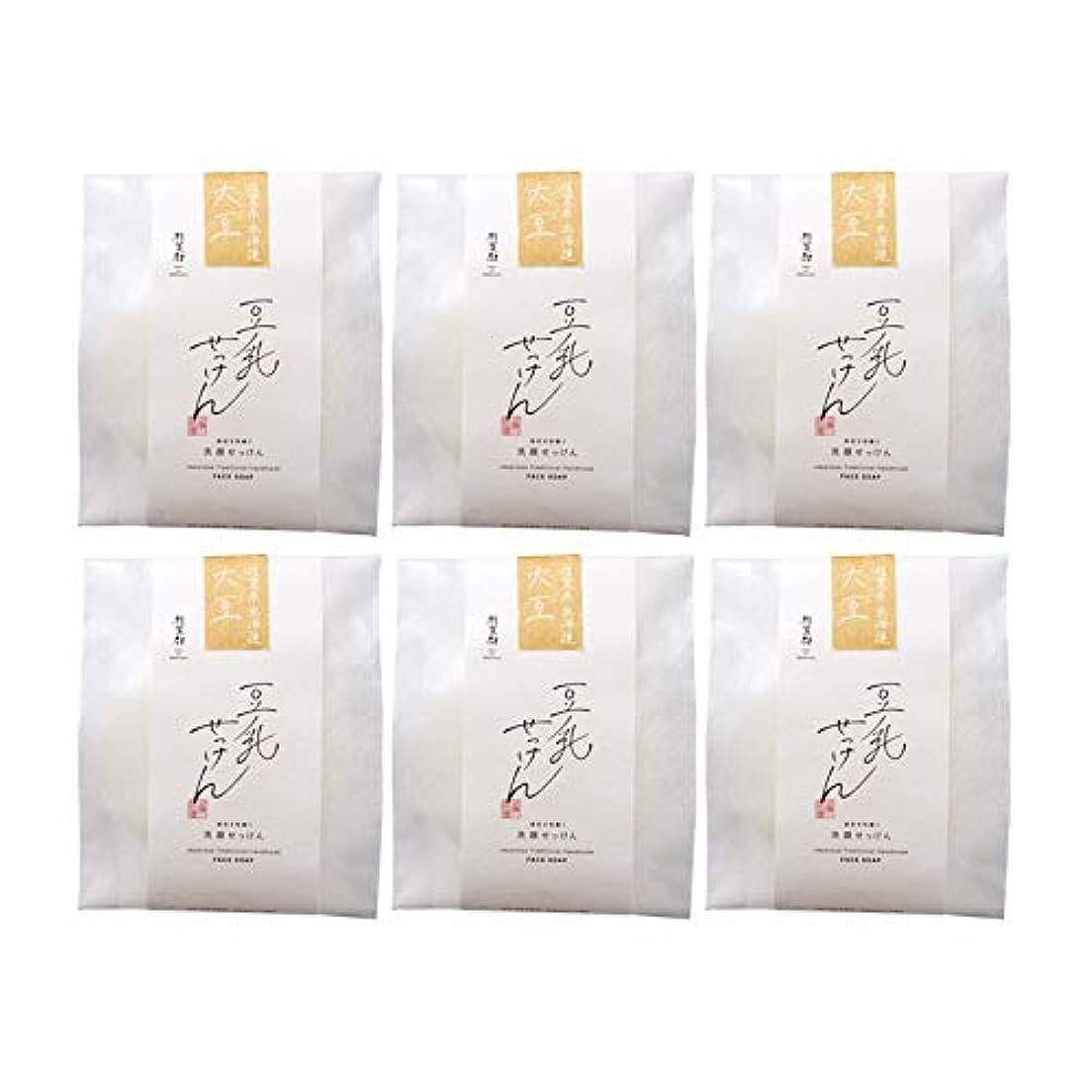 ペデスタル葉っぱ運命豆腐の盛田屋 豆乳せっけん 自然生活 100g×6個セット