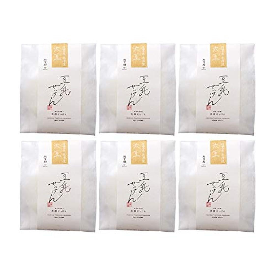 天文学宗教的なエンコミウム豆腐の盛田屋 豆乳せっけん 自然生活 100g×6個セット