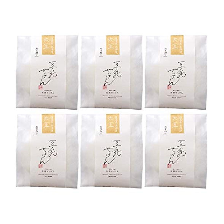 例示する流概要豆腐の盛田屋 豆乳せっけん 自然生活 100g×6個セット