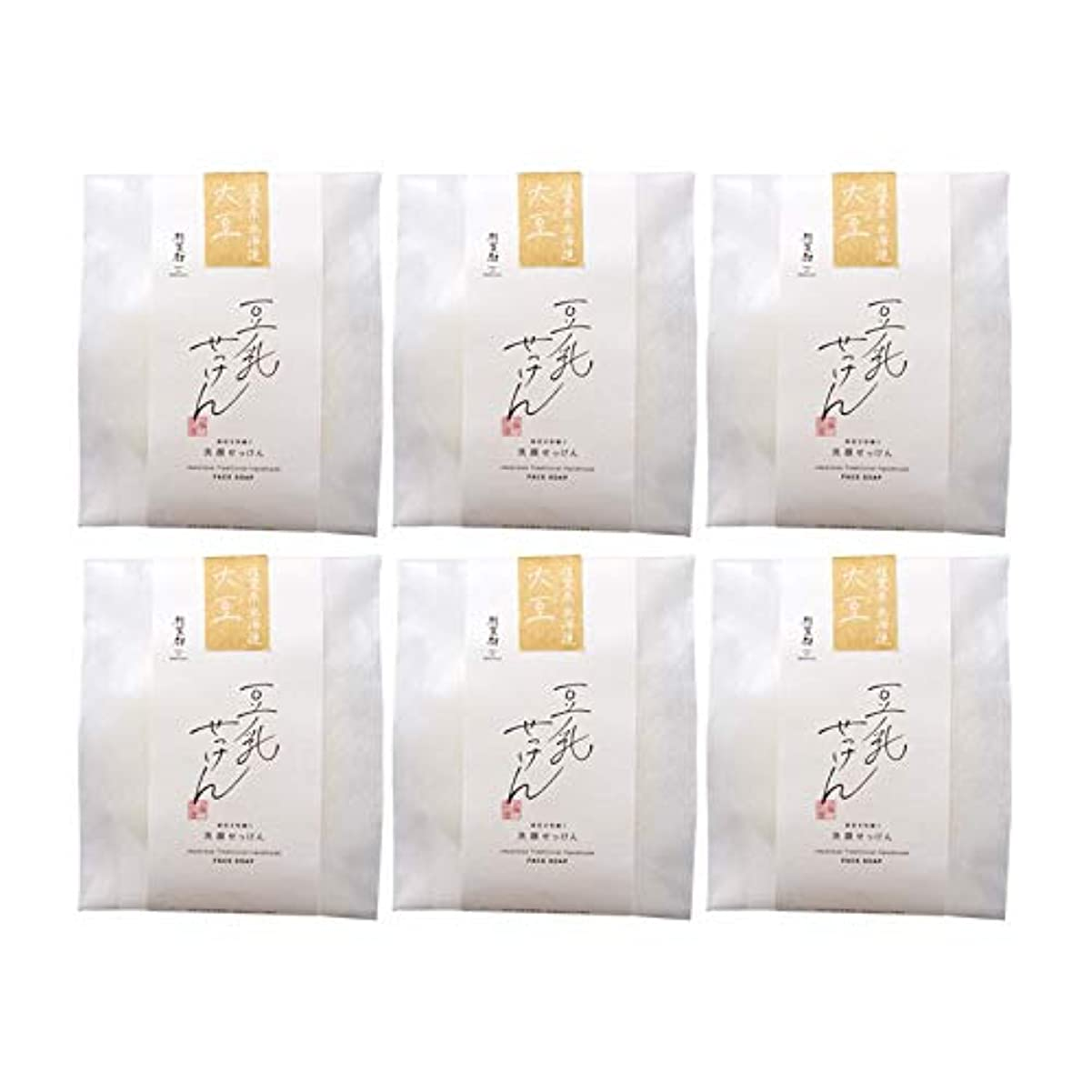 粘液アロングパニック豆腐の盛田屋 豆乳せっけん 自然生活 100g×6個セット