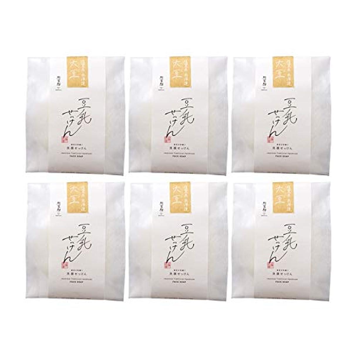 コロニー小道勇敢な豆腐の盛田屋 豆乳せっけん 自然生活 100g×6個セット