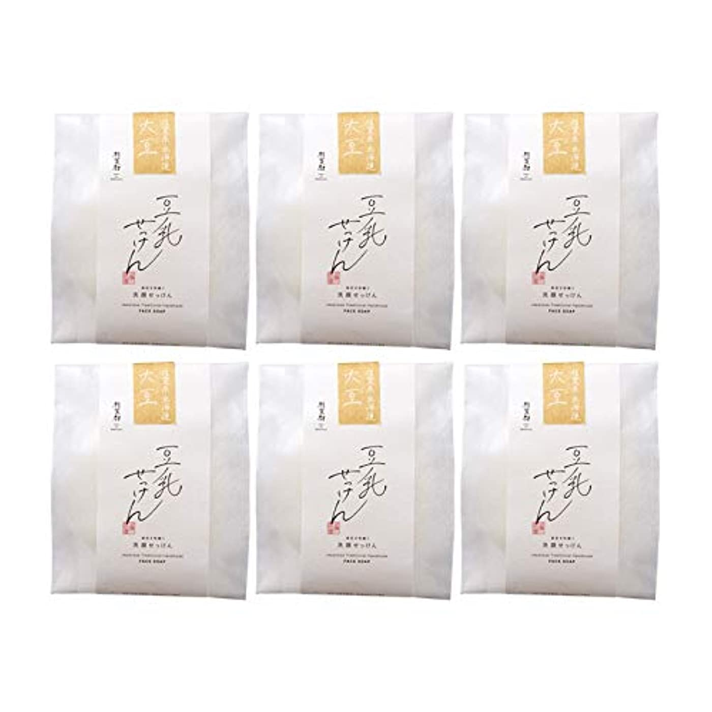 哀美人トン豆腐の盛田屋 豆乳せっけん 自然生活 100g×6個セット