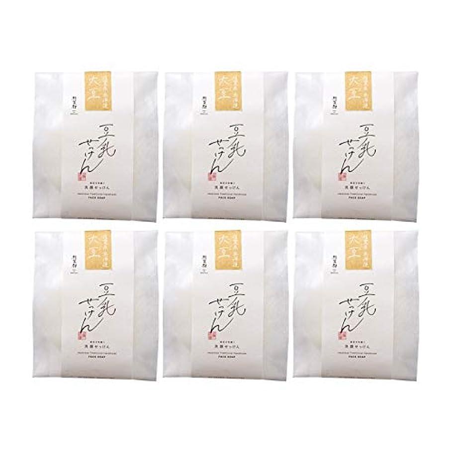 州入る神豆腐の盛田屋 豆乳せっけん 自然生活 100g×6個セット