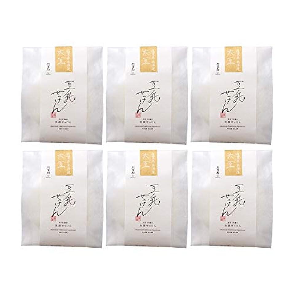 ソロバウンス省豆腐の盛田屋 豆乳せっけん 自然生活 100g×6個セット