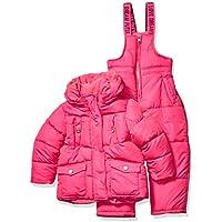 Steve Madden Girls Z4A1265H 2 Piece Snowsuit Set Snowsuit - Pink