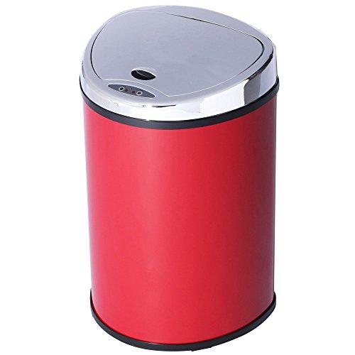 アイリスプラザ ゴミ箱 自動 開閉 センサー付 48L レッド -
