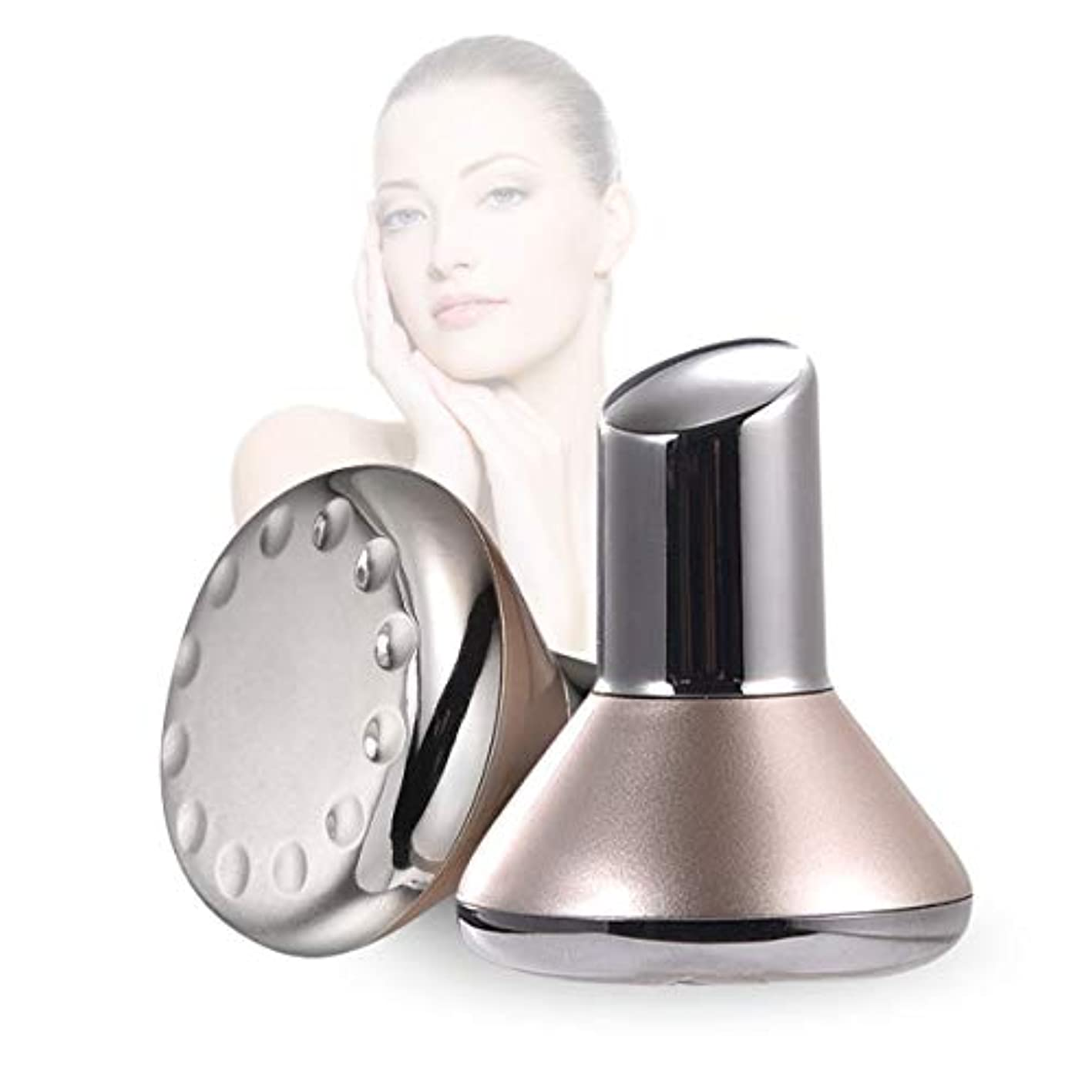 カッターコットン顔の顔のマッサージ、マイクロ磁気振動高周波が付いている携帯用顔機械 - しわを減らすイオン本質のクリーニングの器械