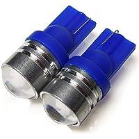 ワゴンR ポジションランプ LED バルブ T10 ウェッジ球 ブルー 2個セット 魚眼レンズ