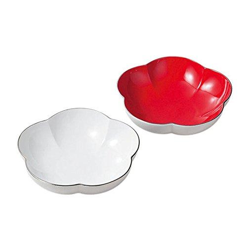 大安吉日 紅白梅型組福寿鉢 日本製 28820