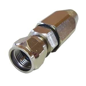 [フジパーツ] アンテナ接栓 4C用 防水型F型接栓(ピン付) 4C用 F型接栓 同軸ケーブル用/F-4FB-15[バルク]