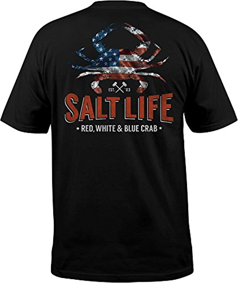 ながら施設目の前の[ソルトライフ] メンズ シャツ Salt Life Men's American Crab T-Shirt [並行輸入品]