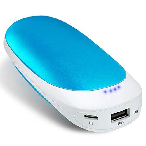 Vshow Baby Dolphin USB充電式カイロ 両面急速発熱 第二代の電気カイロ モバイルバッテリー 5200mAhの大容量 iphone&android対応可能 エコと経済的なハンドウォーマー 繰り返し使う可能 コンパクトのイルカようなデザイン-青