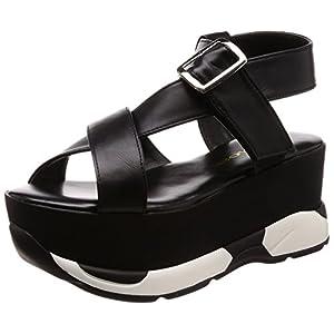 [ウィゴー] レディースファッションサンダル 厚底スポーツサンダル ブラック 24.5~25.0 cm