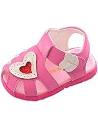 Vacally女の子ラブサンダル 幼児の真珠ソフトスリップ幼児靴 ファッション かわいい マジックステッカー 軽量 ノンリップ 着やすい 理想的な小さなギフト baby shoes