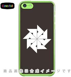 Coverfull 家紋シリーズ 四つ目車 (よつめぐるま) / for iPhone 5c/SoftBank SAPI5C-PCCL-203-AA03
