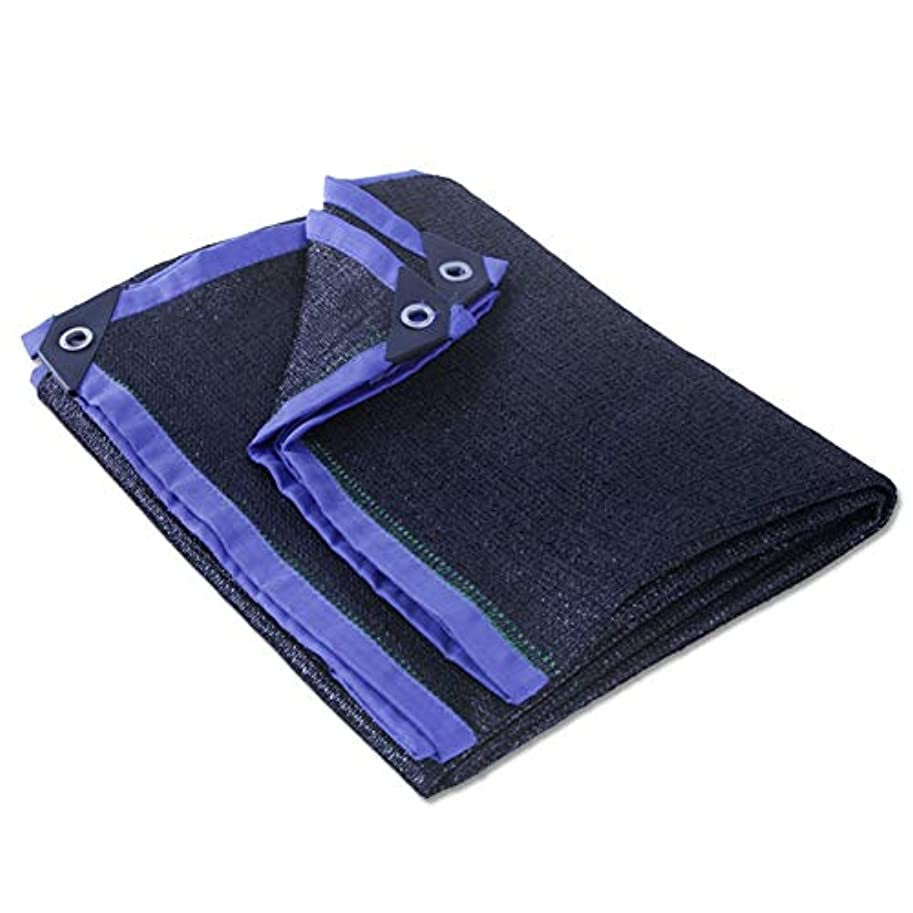 フィラデルフィア北東小麦粉ZHANWEI オーニング シェード遮光ネット 厚くする シェード バルコニー パティオ 断熱材 カスタマイズ可能なサイズ (Color : Black+Blue, Size : 5x5m)
