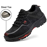 Safety Shoes, Steel Toe Cap Trainers Lightweight Mens Womens Safety Shoes Work Midsole Protection,8.5