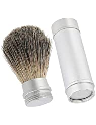 男性用アルミチューブ付き美容髭剃りブラシ理髪クレンジングブラシ