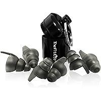 TheFitLife 耳栓 ライブ用 3サイズ入 高音域23dB防音 携帯ケース付 イヤープラグ フェス クラブ オフィス 楽器演奏 高性能サウンドフィルター付 イヤープロテクター CEマークの認証取得 日本語説明書付 (ブラック23dB防音)
